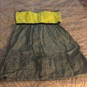 Judith March yellow and black dress (size 2)